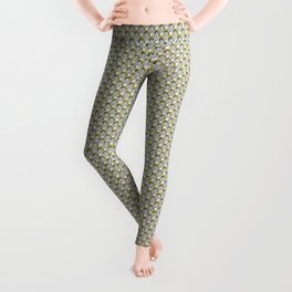 Skull and Roses | Skull and Flowers | Vintage Skull | Grey and Yellow | Leggings