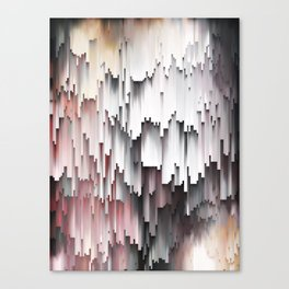 White Black Mauve Cascade Abstract Canvas Print
