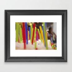 Straw market Framed Art Print