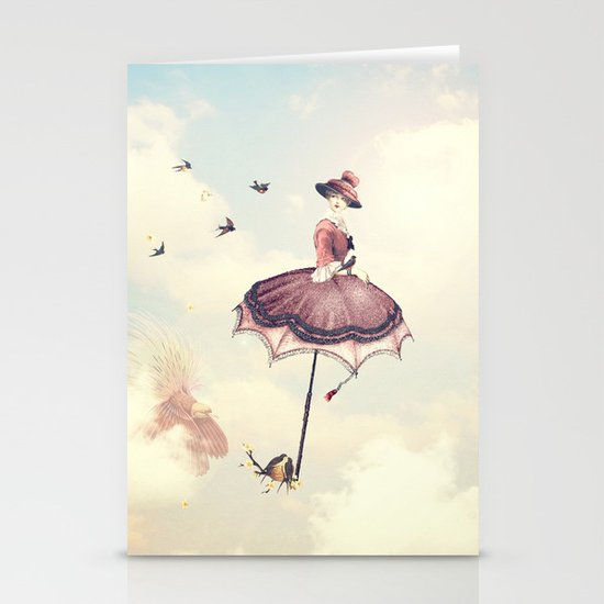Spring Lady Stationery Cards
