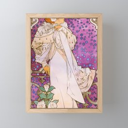 Alfons Mucha - La Dame Aux Camelias - Digital Remastered Edition Framed Mini Art Print