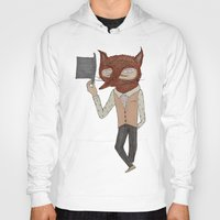 mr fox Hoodies featuring Mr. Fox by black lab studio