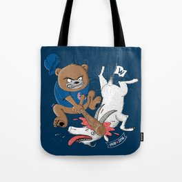 The Goat is Dead! (blue version) Tote Bag