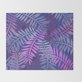 Violet pink palm leaves pattern Design #leaves Throw Blanket