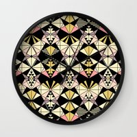 kaleidoscope Wall Clocks featuring Kaleidoscope by Kimsa
