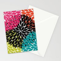 Big Tropical Flowers Stationery Cards