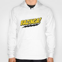 bazinga Hoodies featuring Bazinga! by WaXaVeJu