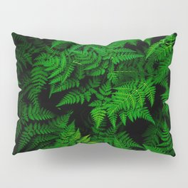 Deep Forest Ferns Pillow Sham