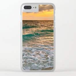 Siesta Sunset Clear iPhone Case
