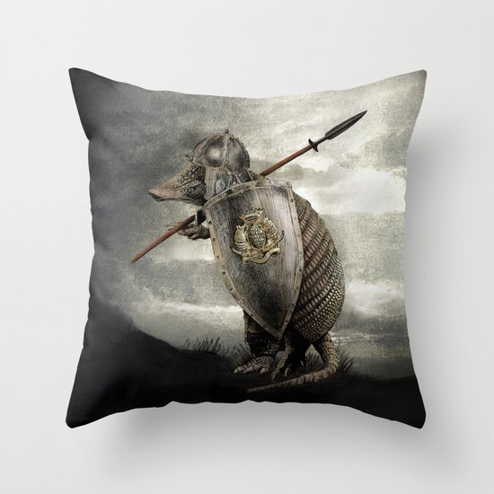 Armadillo by Eric Fan & Viviana González Throw Pillow