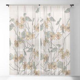 Winding flowers Sheer Curtain