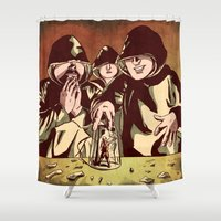 rebel Shower Curtains featuring Rebel by Craig Holland Illustration