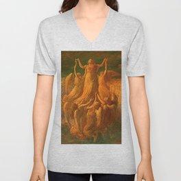 L'Assunzione (Assunta) The Resurrection by Gaetano Previati Unisex V-Neck