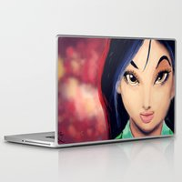 mulan Laptop & iPad Skins featuring Mulan by tgronberg