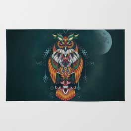 Wisdom Of The Owl King Rug