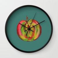 irish Wall Clocks featuring Irish Apple by Helen Magee