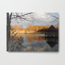 Gazebo in Fall Metal Print