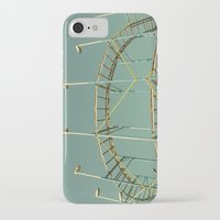 coasters iPhone & iPod Cases featuring rollercoaster by Bianca Green