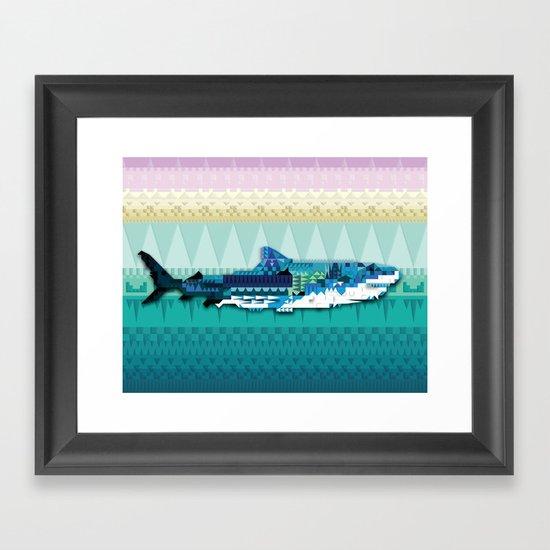 Paralleloshark Framed Art Print