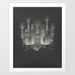 Live Music Capital Art Print
