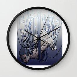 female cyborg Wall Clock