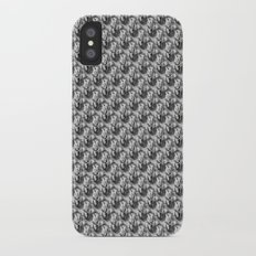 Floral Black and White Slim Case iPhone X