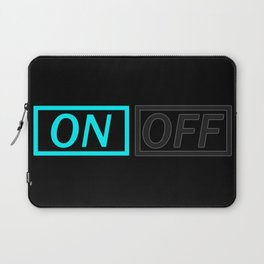 Light On And Off Button Laptop Sleeve
