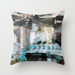 Falling from balconies Throw Pillow