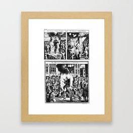 Burned at the stake. Framed Art Print