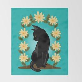 Flower gate Throw Blanket