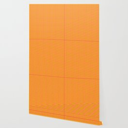 Pink On Yellow Grid Wallpaper