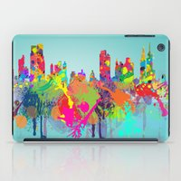 new york iPad Cases featuring NEW YORK, NEW YORK by mark ashkenazi