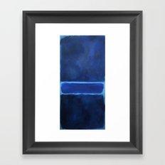 Mark Rothko Interpretation Blue Framed Art Print