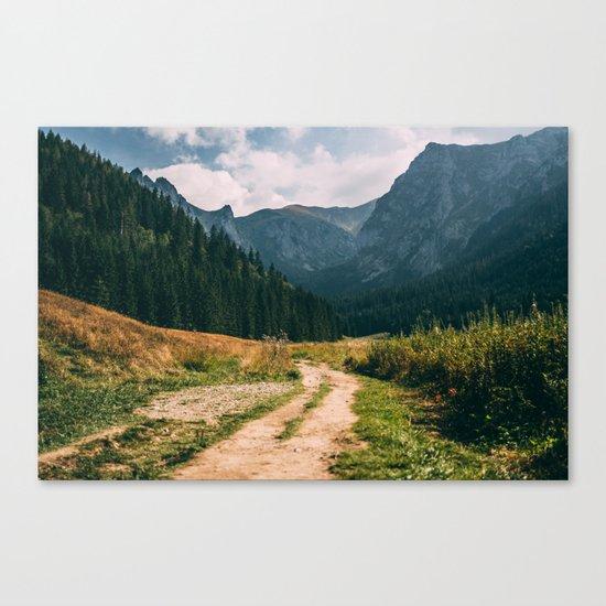 Sunny Mountain Valley Canvas Print