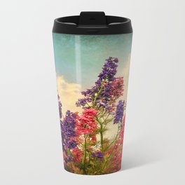 Delphiniums (Textured) Travel Mug