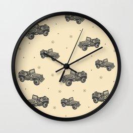American Army Jeep #tshirt #army #wear #society6 Wall Clock