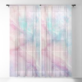 Iridescent marble Sheer Curtain
