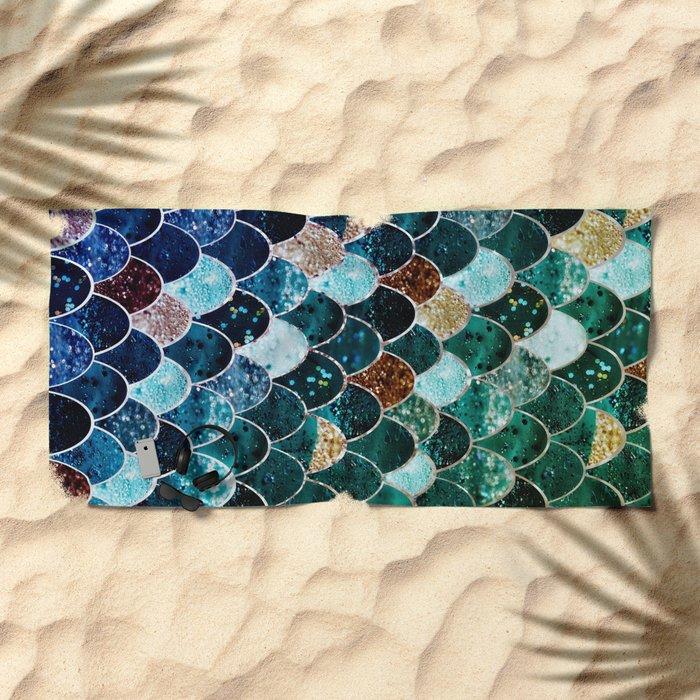 REALLY MERMAID TIFFANY Beach Towel