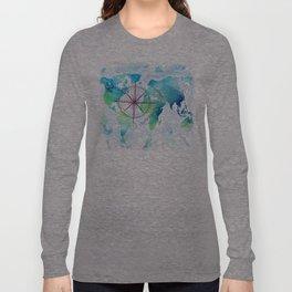 Watercolor map Long Sleeve T-shirt