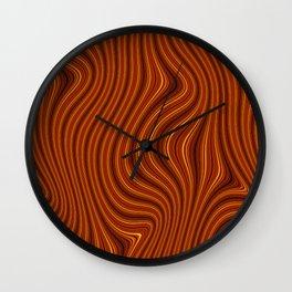 Amber Lava 6 Hi Res Wall Clock