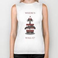 wall e Biker Tanks featuring Where's Wall-e? by Robert Scheribel