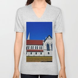 St. Mary's Church side view Unisex V-Neck