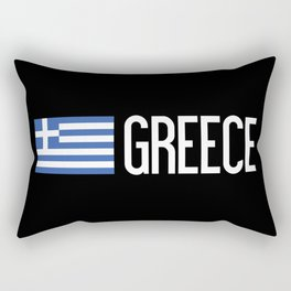 Greece: Greek Flag & Greece Rectangular Pillow