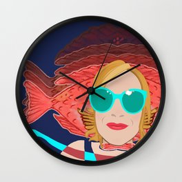 Power Girl with Glasses at the Sea Wall Clock