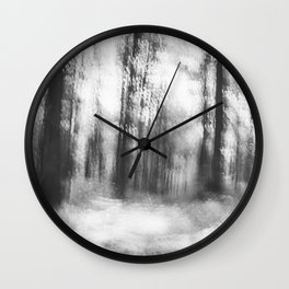 Lost in the woods - abstract infrared photograph Wall Clock