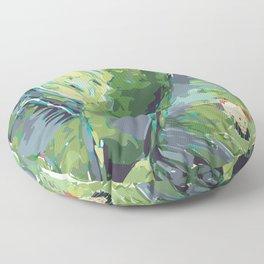 ES-829 Melange Green in Cuba  Floor Pillow
