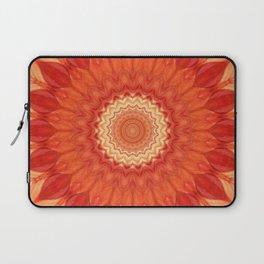 Mandala orange red Laptop Sleeve