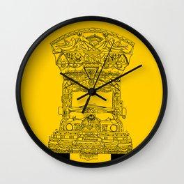 Pakistani Truck. (Yellow) Wall Clock