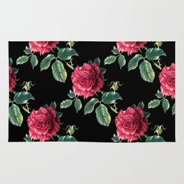 Pattern with roses 3 Rug