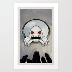 Scream (Looking in) Art Print